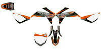 Kit plastiques LXR PITSTERPRO court avec stickers orange-Pit-bike