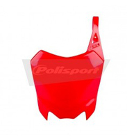 Plaque avant POLISPORT pit bike CRF110 rouge-Pit-bike