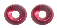 2 rondelles CNC 6mm ROUGE PITSTERPRO-Pit-bike