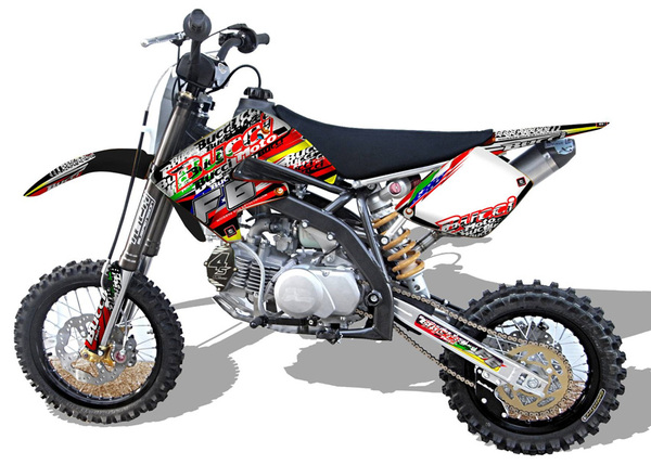 Kit stickers pitbike BUCCI officiel 2014