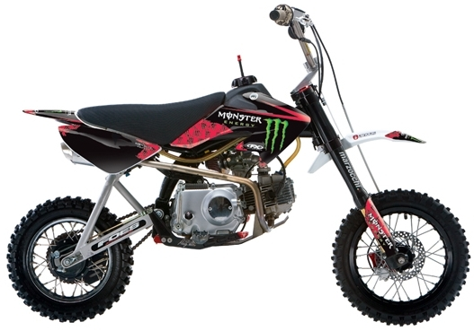 Stickers Monster FX, tout plastique type CRF50