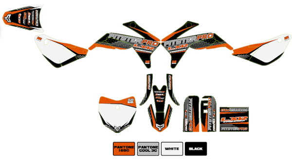 Kit stickers PITSTERPRO LXR150 orange