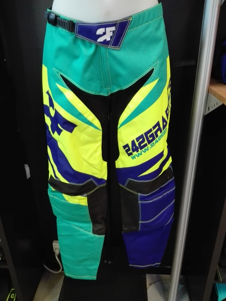 Pantalon cross 2F TWO FRIENDS vert/jaune/bleu