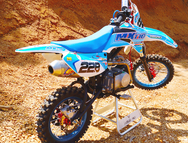 PITSTERPRO MX110, BLUE FMF