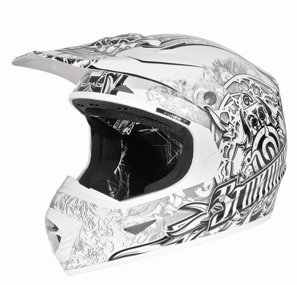 Casque cross STORMER blanc