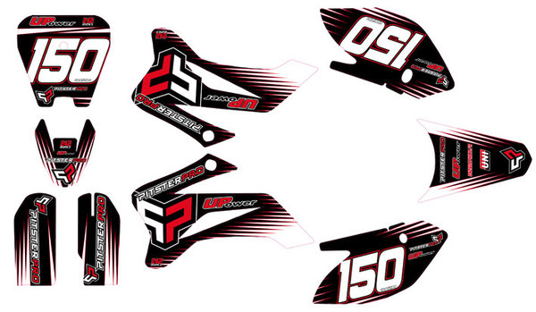Kit stickers PITSTERPRO LX150R 2011