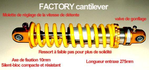 Amortisseur FACTORY cantilever -275mm-
