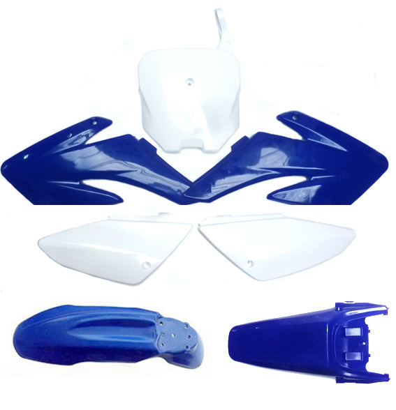 Kit plastique bleu X5 PITSTERPRO -forme pit bike CRF70-