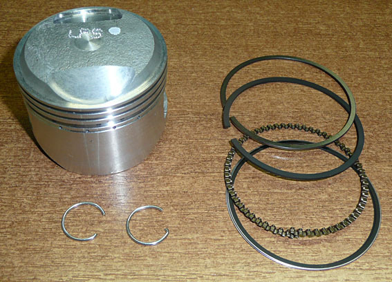 Piston, segments stage 4, 120 LIFAN 1P52FMI