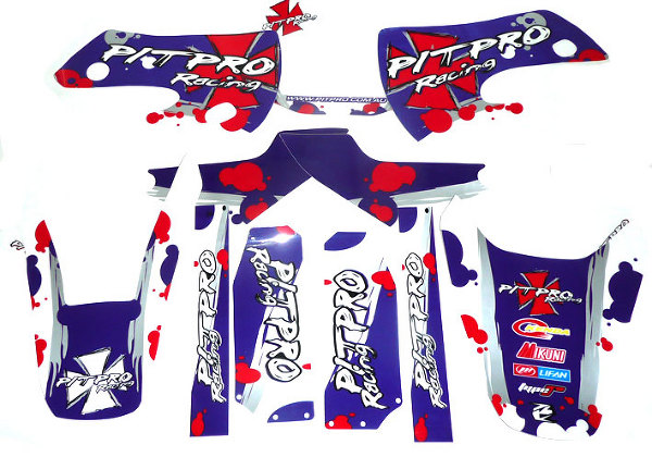 Stickers PITPRO BLUE POISON KLX110/SP4/FUSION/RSR08/9...