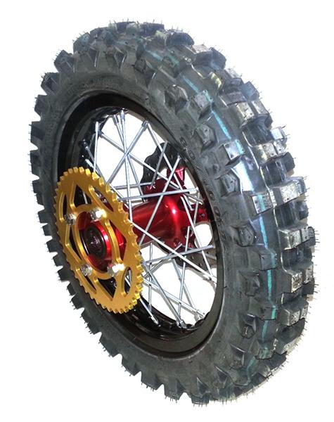 roue arrire 12 39 39 bucci moto avec pneu golden avec disque et couronne pices pitsterpro. Black Bedroom Furniture Sets. Home Design Ideas