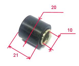 silent bloc de fixation d 39 amortisseur 20x21x10 suspension arrire partie cycle 4622 pieces. Black Bedroom Furniture Sets. Home Design Ideas