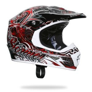 Casque cross STORMER rouge